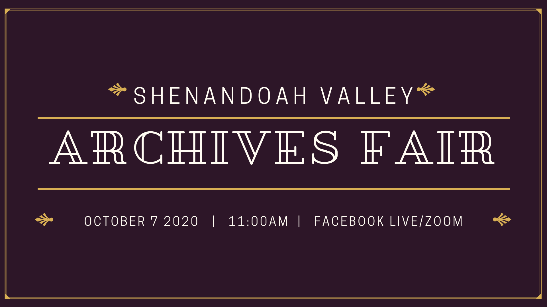 Archives Fair 2020